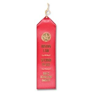 "2""x8"" Premium Grade Custom Award Ribbon W/Card"